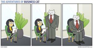 boss cat 10 300x155 - Begini Jadinya kalau Kamu Punya Bos Seorang Kucing