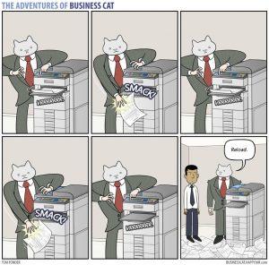 boss cat 17 300x296 - Begini Jadinya kalau Kamu Punya Bos Seorang Kucing