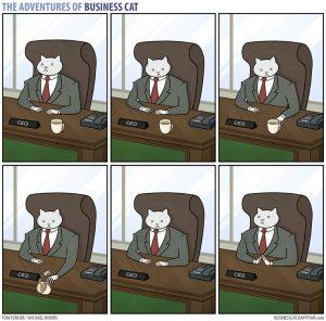 boss cat 2 300x296 - Begini Jadinya kalau Kamu Punya Bos Seorang Kucing