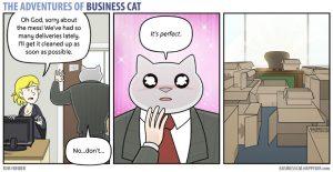 boss cat 4 300x155 - Begini Jadinya kalau Kamu Punya Bos Seorang Kucing