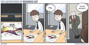 boss cat 8 300x155 - Begini Jadinya kalau Kamu Punya Bos Seorang Kucing