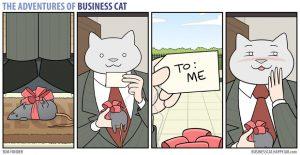 boss cat16 300x155 - Begini Jadinya kalau Kamu Punya Bos Seorang Kucing