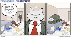 boss cat22 300x155 - Begini Jadinya kalau Kamu Punya Bos Seorang Kucing