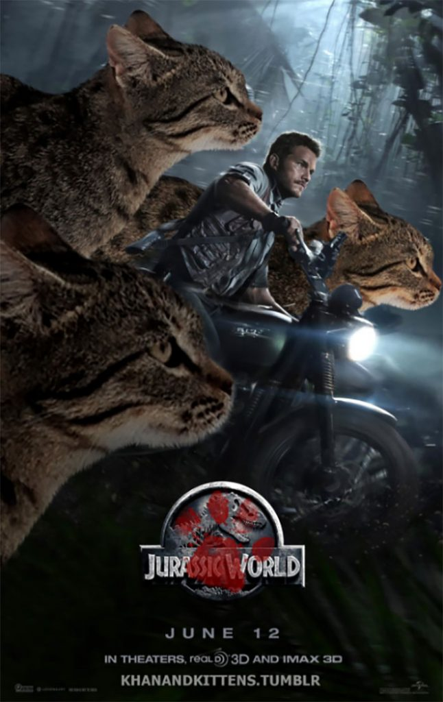 purasic6 646x1024 - Ketika Kucing Menggantikan Dinosaurus di Jurassic Park