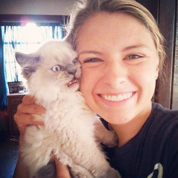 ogah selfi3 - Lihat Aksi Konyol 12 Kucing ini Saat Diajak Selfie. Mukanya Ngeselin Banget
