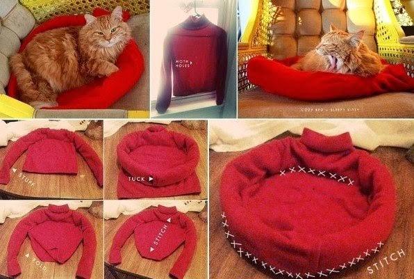 tempat tidur kucing - 7 Desain Tempat Tidur Kucing Unik yang Bisa Kamu Buat Sendiri