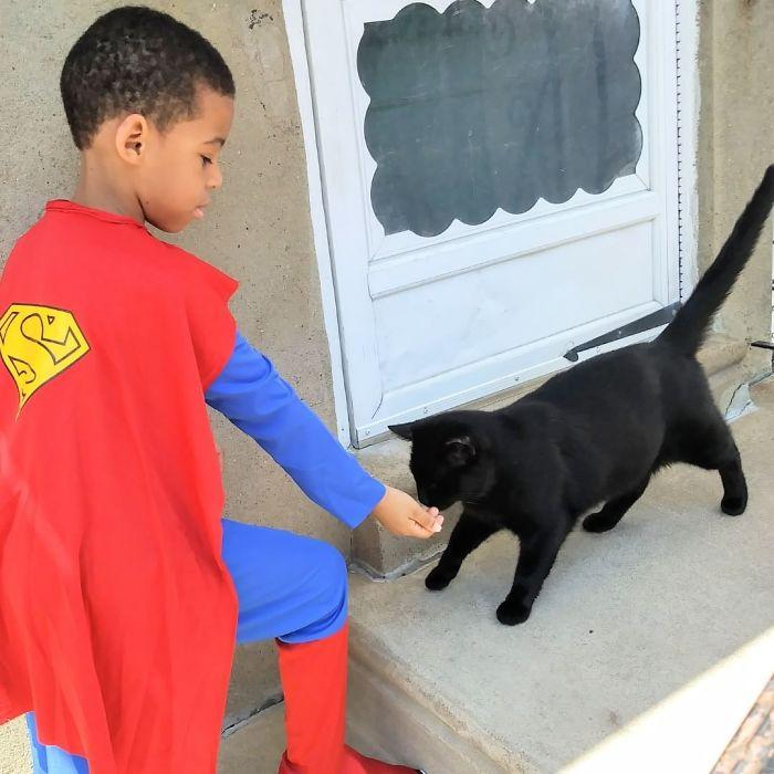 superhero cilik penyelamat kucing terlantar3 - Superhero Cilik Penyelamat Kucing Terlantar