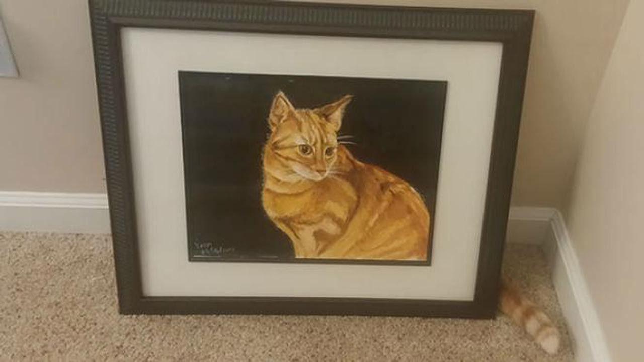 Lukisan kucing.